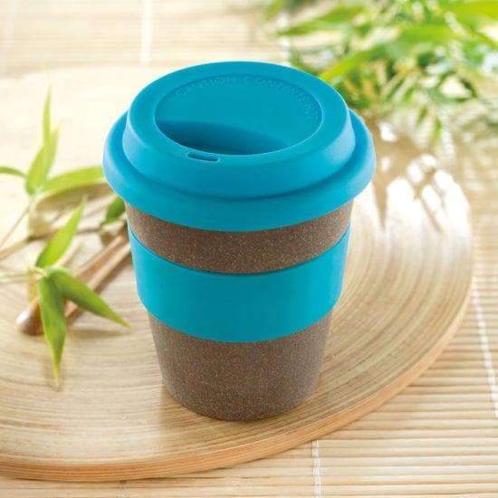 Κούπα μεταφοράς καφέ με καπάκι σιλικόνης και λαβή