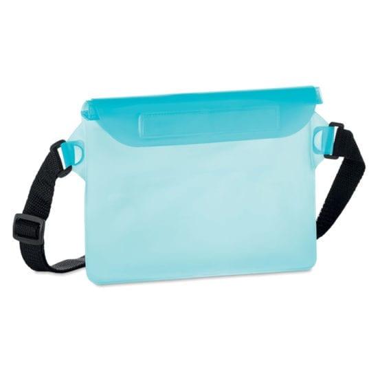 Αδιάβροχη τσάντα μέσης από PVC με ιμάντα και κλείσιμο με κλιπ