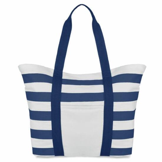 Τσάντα παραλίας σε καμβά με ρίγες